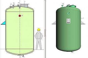 Pressure vessels according to PED regulations